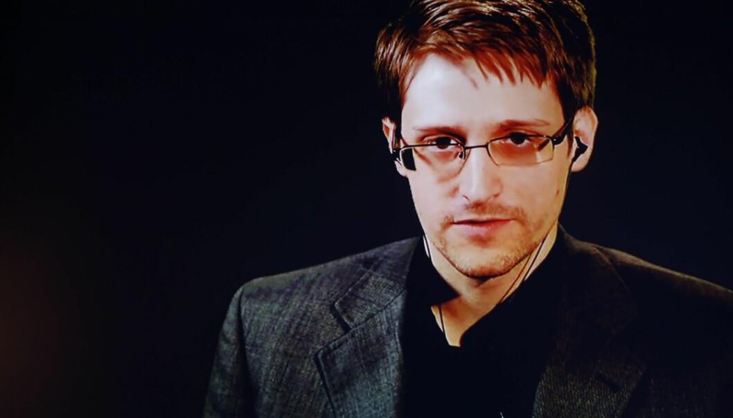 SKUFFET: Edward Snowden kaller det trist og forutsigbart at regjeringen gikk så langt for å forhindre at han skulle kunne komme i Norge for å motta Ossietzky-prisen.Foto: Svein Ove Ekornesvåg / NTB scanpix