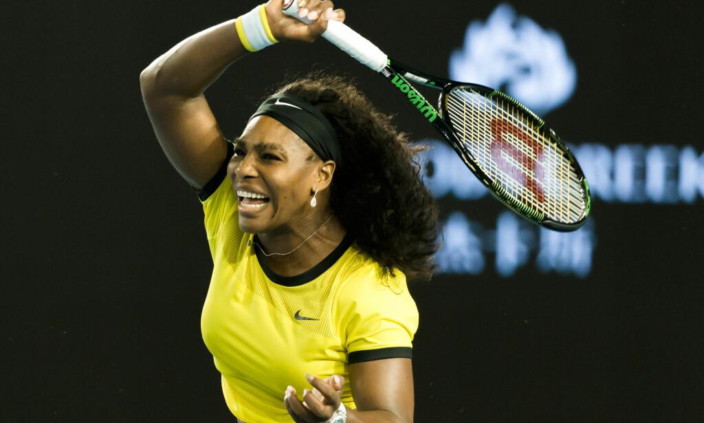SLO STORESØSTEREN: Serena Williams vant Grand Slam-turneringa Australian Open, etter å ha slått storesøster Venus i finalen. Her fra semifinalen i 2016. Foto: Sydney Low / Cal Sport Media / NTB Scanpix