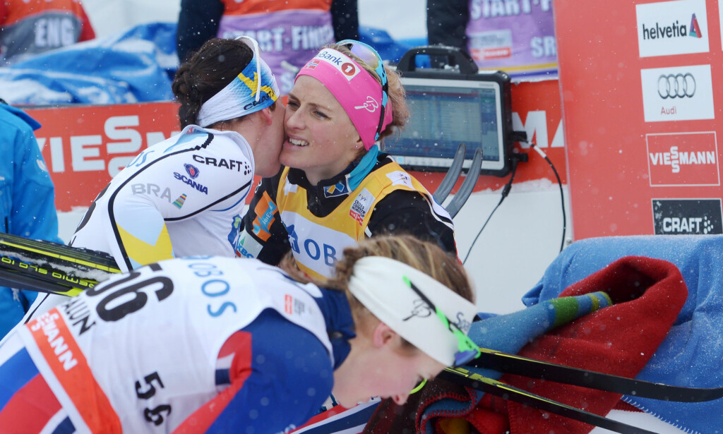 "TRIST: Charlotte Kalla forteller at hun lider med Therese Johaug. &nbsp;<span style=""background-color: initial;"">Foto: Maja Suslin/TT / NTB scanpix</span>"