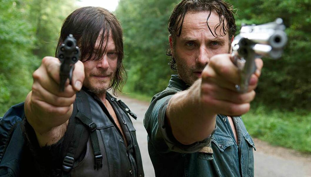 <strong>APOKALYPTISK UNIVERS:</strong> Serien «The Walking Dead», som hadde premiere i 2010, utspiller seg i et apokalyptisk zombie-univers. Foto: HBO