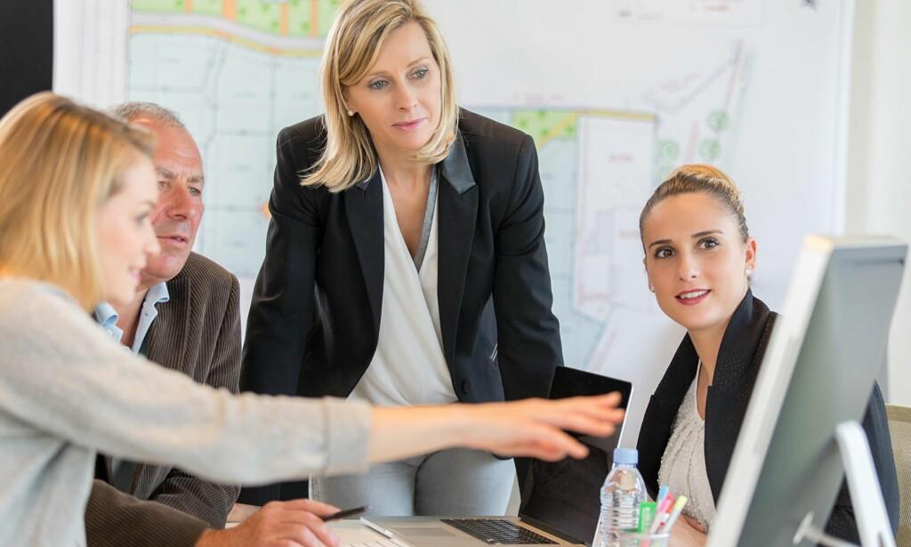 MØNSTER: Vi har høy kvinnelig arbeidsdeltakelse, men få kvinner i privat sektor og få kvinnelige entreprenører og selvstendig næringsdrivende, skriver kronikkforfatteren. Foto: Shutterstock / NTB Scanpix  <div><br><div><br></div></div>