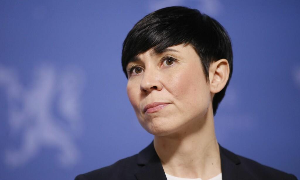 I KRIG: Forsvarsminister Eriksen Søreide skal finne venner med løgndetektor. Foto: Cornelius Poppe / NTB Scanpix<div><br></div>