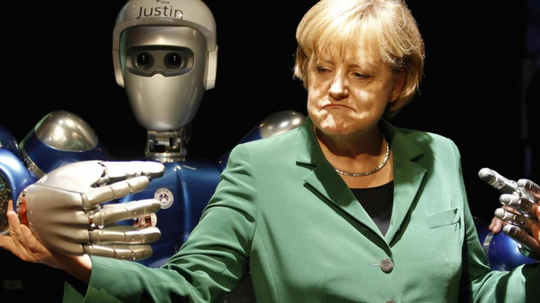 <strong>ROBOTENE KOMMER:</strong> Robotifiseringen av økonomien gjør en gammel idé aktuell. Er borgerlønnens tid kommet? spør Aksel Braanen Sterri. Foto: REUTERS/Fabrizio Bensch