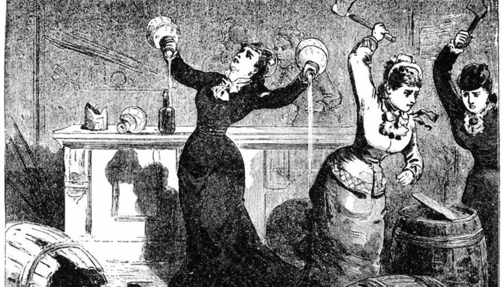 KORT PROSESS: Den irske Temperance Movement-bevegelsen tidlig på 1900-tallet gjorde kort prosess da de kom over djevelens vann.