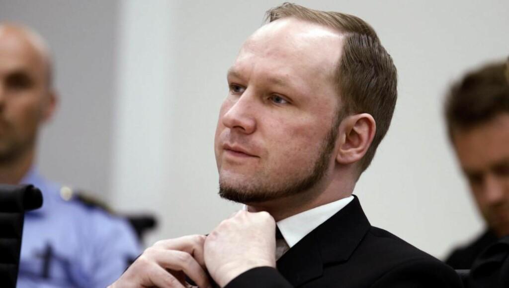 TIL SAK MOT STATEN:  Anders Behring Breivik.