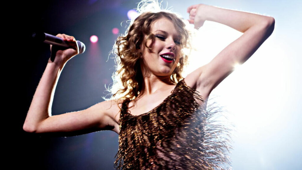 SKJØNNHET: Den amerikanske artisten Taylor Swift i Oslo Spektrum. Foto: Lars Eivind Bones / Dagbladet