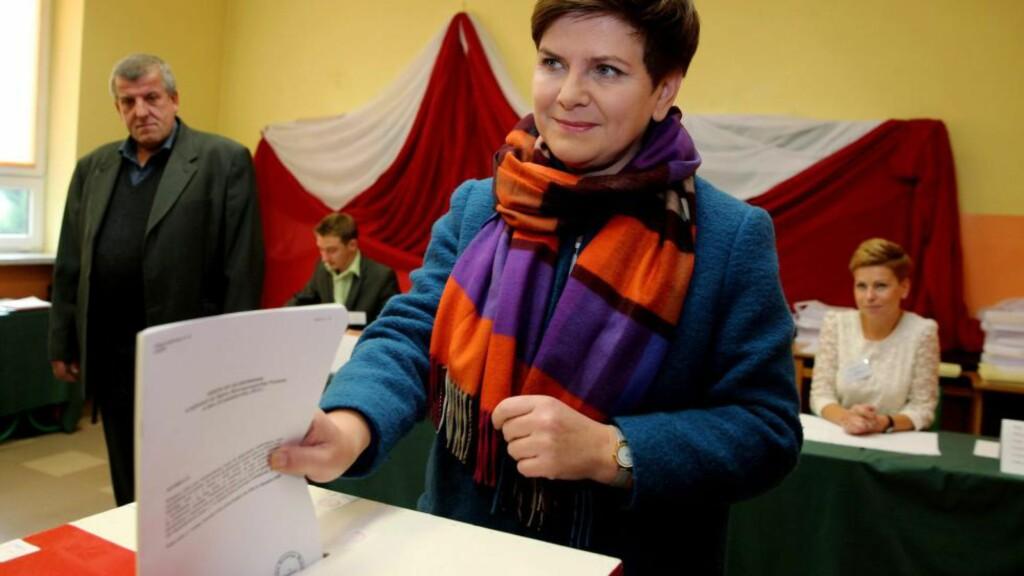STEMMER RIKTIG: Beata Szydlo blir Polens nye statsminister. Foto: PAP/Scanpix