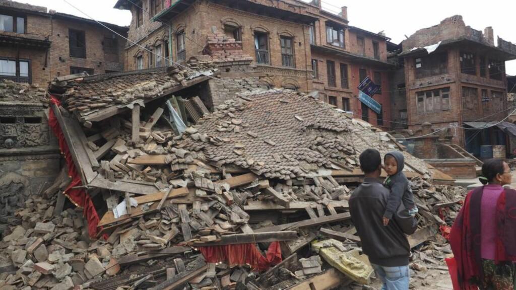 Nepal, Bahaktapur.   Bildet: Mange av Bhaktapurs vakre bygninger er lagt i grus. FOTO: JØRGEN LOHNE