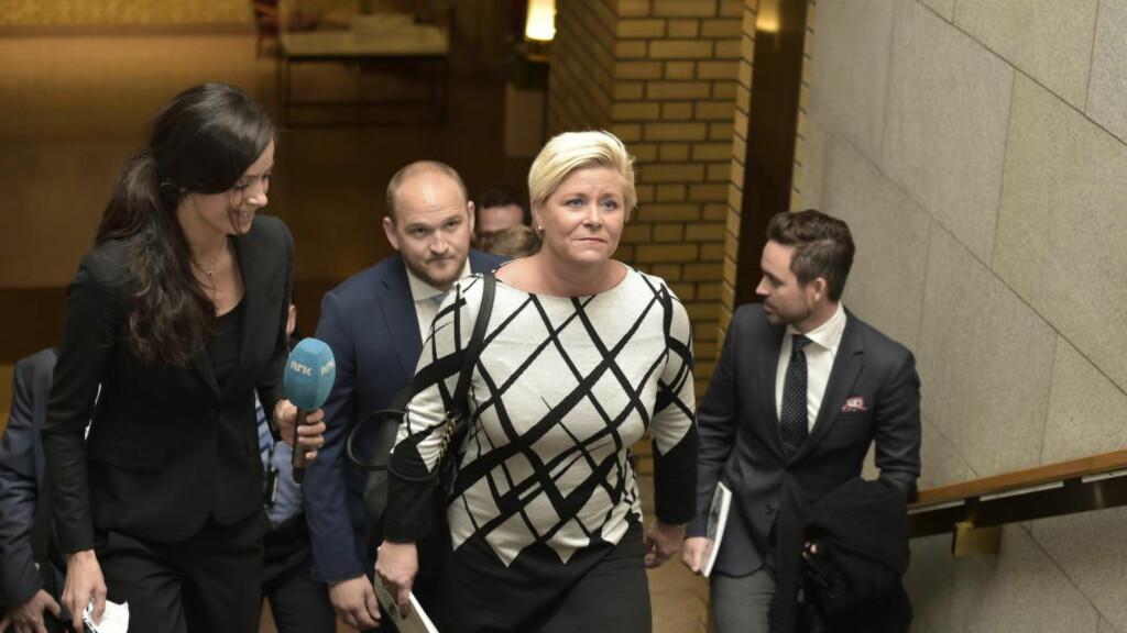 SKATTEKUTT: Finansminister Siv Jensen har lagt fram en svært ensidig skattereform, skriver Aksel Braanen Sterri.  Foto: Hans Arne Vedlog / Dagbladet