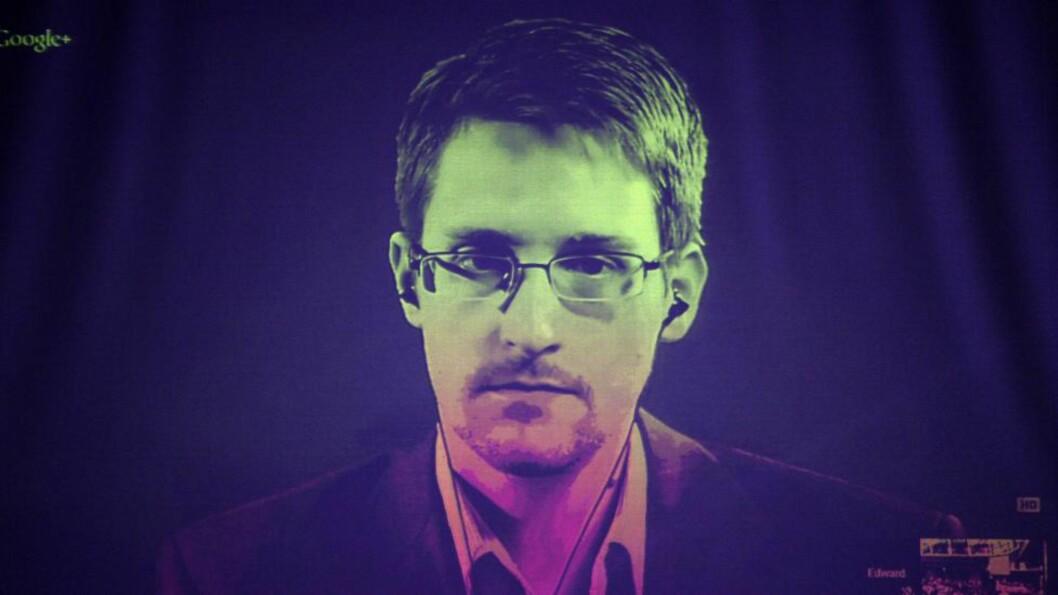 <strong>WHISTLEBLOWER:</strong> Snowden skal motta Bjørnsonprisen. Men vil ikke kunne komme. Foto: Frederick Florin / AFP