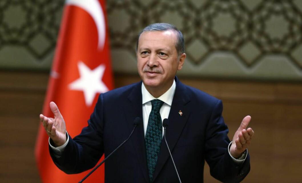 ENEHERSKER:President Recep Tayyip Erdogan kjemper for å samle all politisk makt i sine hender. Han tapte valget i juni, og nå satser han på omkamp i et nyvalg i oktober eller november. Foto: EPA / Scanpix / Presidentens Pressekontor, Tyrkia