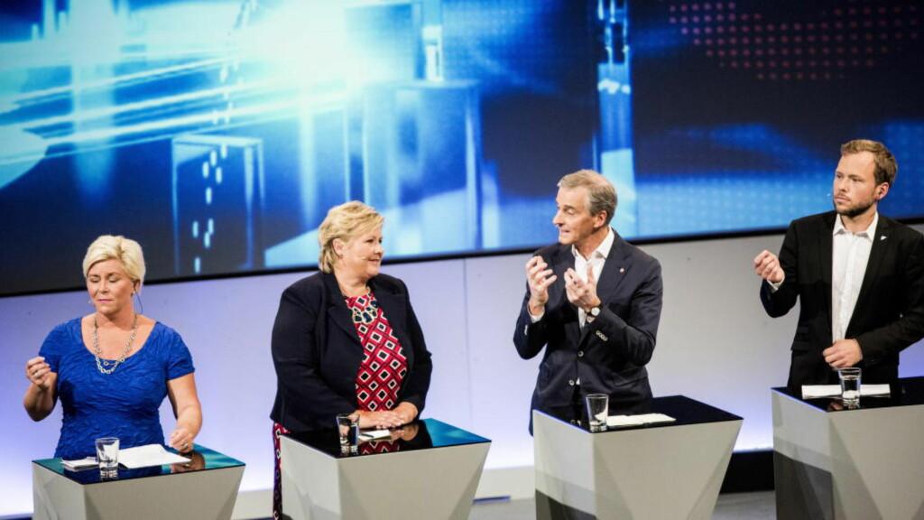 DEBATT: Fra arendalsuka og partilederdebatten. Foto: Christian Roth Christensen / Dagbladet