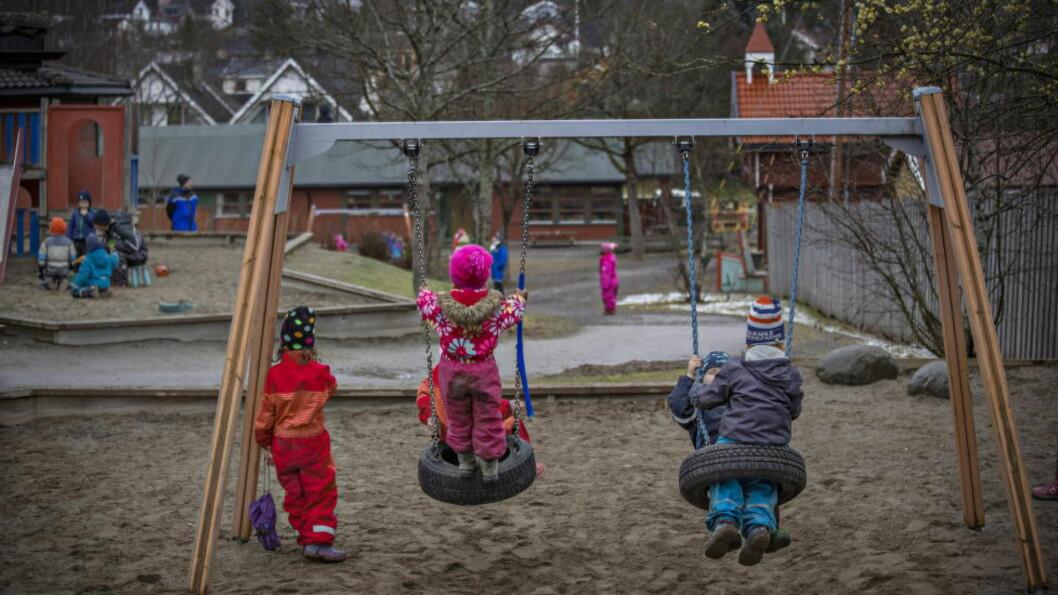 <strong>BARNEHAGER:</strong> Rundt halvparten av landets barnehager er private. Så lenge foreldrene kan velge barnehage for sine barn, er det en fordel, skriver Aksel Braanen Sterri. Foto: Jørn H Moen / Dagbladet