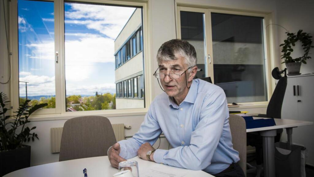 AVSATT: NAV-direktør Joakim Lystad på det som inntill nylig var hans kontor på Hasle i Oslo. Foto: Lars Eivind Bones / Dagbladet