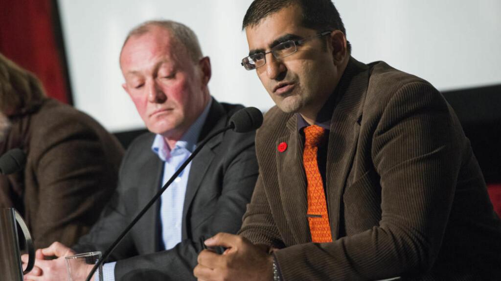 """Rådgiver i Antirasistisk senter  Shoaib Sultan (til høyre) blir pekt ut av Kaltham Alexander Lie som """"homofob"""" på et grunnlag som ikke en gang eksisterer. NTB scanpix"""