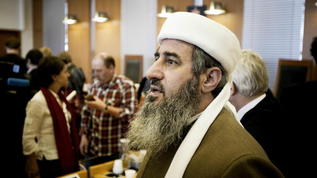 2012: Mulla Krekar, Najmuddin Faraj Ahmad i retten i 2012, tiltalt for trusler.  Foto: Bjørn Langsem / Dagbladet.