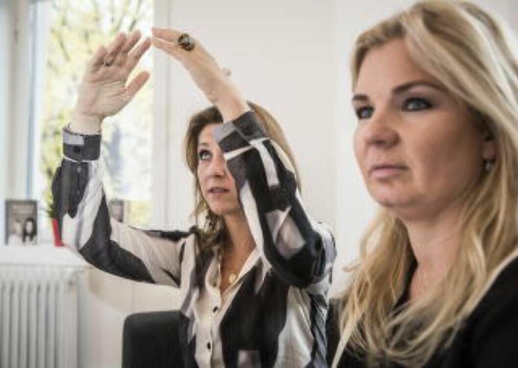 <strong>SÅ STOR:</strong> HVA? Vet du ikke hva en ametystgrotte er? Märtha forklarer. Foto: Lars Eivind Bones / Dagbladet