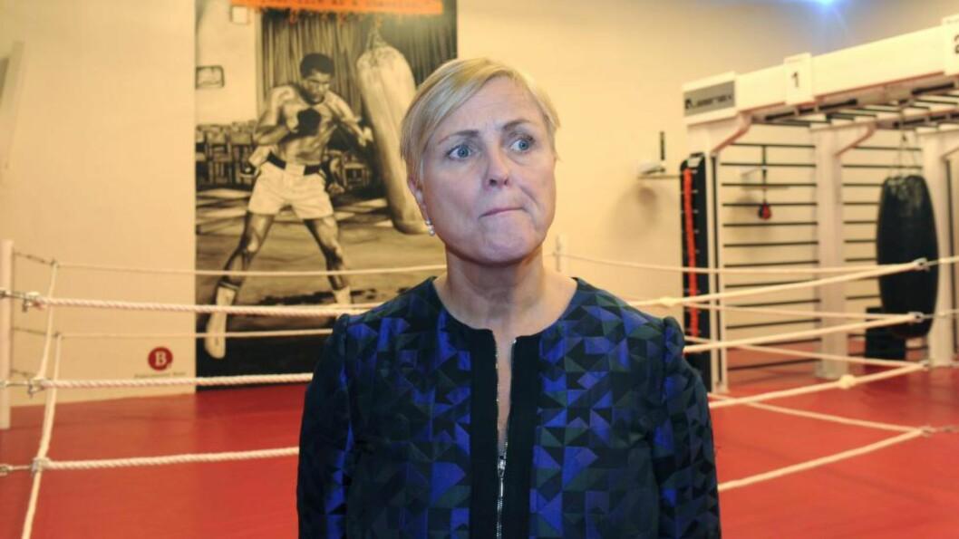 <strong>MOTSTAND:</strong> Kulturminister Thorild Widvey kommer til å møte stor motstand i Stortinget mot mediekuttene. Foto: NTB/Scanpix