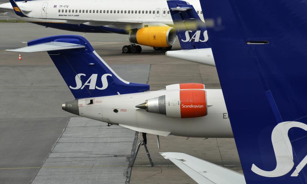 STREIK: 300 SAS-piloter ved Arlanda flyplass i Sverige tas ut i streik med umiddelbar virkning. Foto: Johan Nilsson / TT / NTB Scanpix