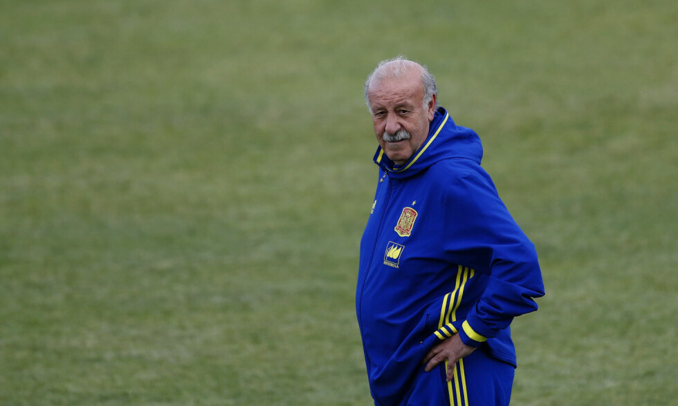 DRØMMER OM TRIPPELEN: Spania-trener Vicente del Bosque håper å lede landet til sin tredje strake EM-tittel. Foto: Scanpix