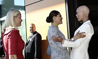 VICTORIA: Kronprinsesse Victoria av Sverige gikk inn sammen med Mette-Marit og Gunhild Stordalen. Foto: Nina Hansen / Dagbladet