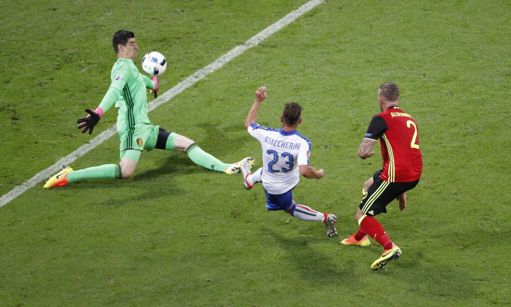 1-0-MÅLET: Emanuele Giaccherini scoret i 1. omgang. Foto: REUTERS/Max Rossi Livepic
