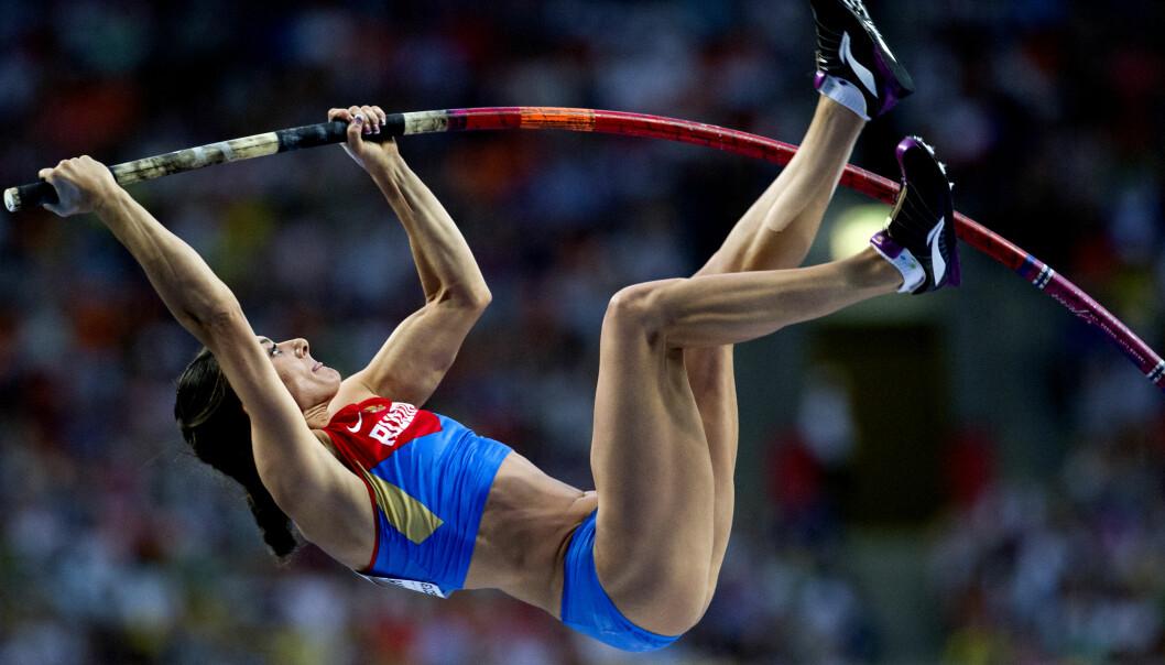 <strong>HÅPET LEVER:</strong> Russlands friidrettsutøvere er utestengt fra Rio-OL, men Jelena Isinbajeva og enkeltutøvere som kan bevise sin uskyld, kan muligens få delta under nøytralt flagg. Foto: NTB Scanpix