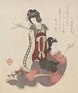 Fra utstillinga Japanomania i Norden. Kubo Shunman og Suzuki Kiitsu, En japansk og en kinesisk skjønnhet, mellom 1818 og 1844. Foto: Nasjonalmuseet