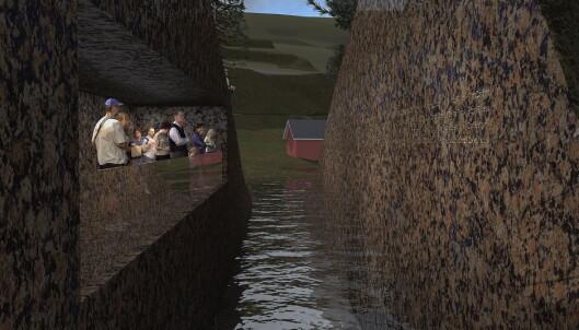 Navnene på ofrene fra Utøya skal etter planen graveres inn i kuttet på minnestedet på Sørbråten. Men flere etterlatte vil ikke ha navnet på sine barn der. Foto: Jonas Dahlberg Studio / NTB scanpix