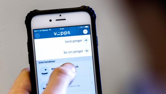 <strong>ENKELT:</strong> Med Vipps fra DNB kan du enkelt sende eller be om penger fra mobilen. Foto: Gorm Kallestad / NTB scanpix