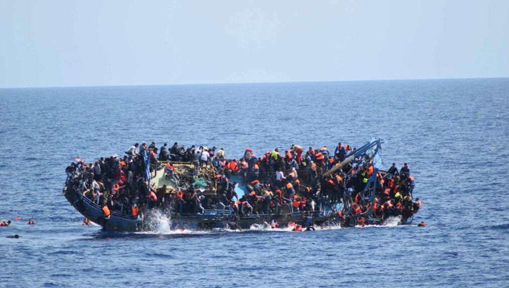 <strong>TRAPPER OPP INNSATSEN:</strong> EUs utenriksministre ønsker å trappe opp innsatsen utenfor kysten av Libya. Foto: Scanpix