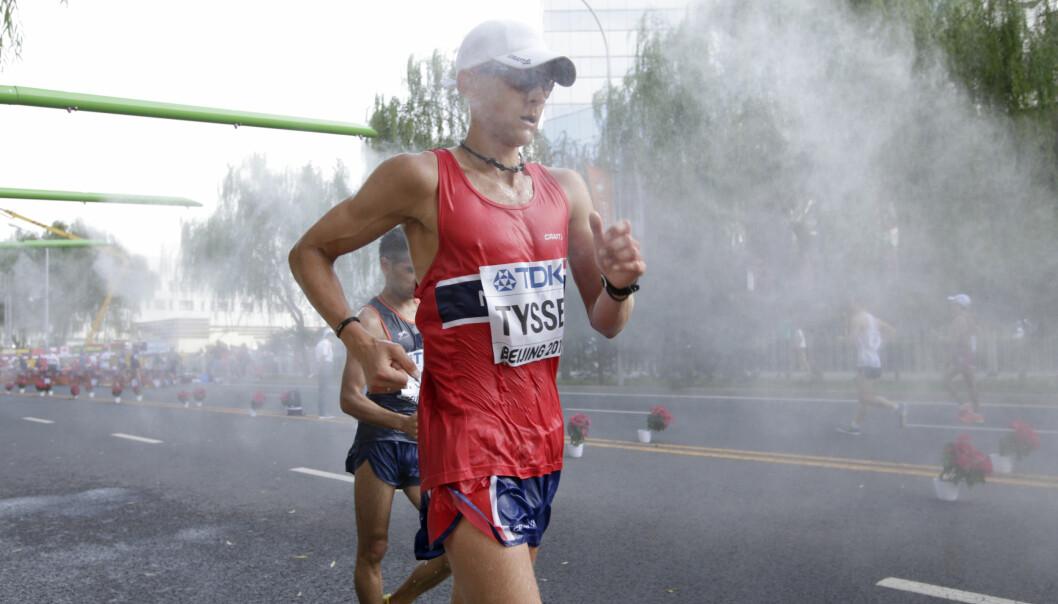 <strong>KLAR FOR RIO:</strong> Erik Tysse har formelt ikke klart det norske uttakskravet på 20 kilometer kappgang, men fikk OL-billetten i dag. Foto: NTB Scanpix