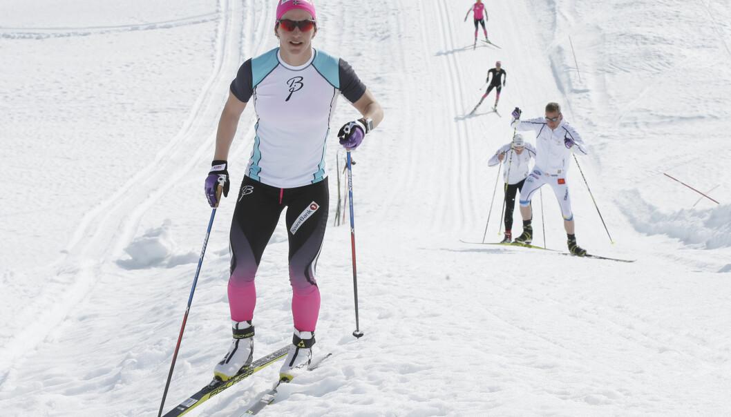 <strong>BLE FOR MYE:</strong> Marit Bjørgne har fortsatt en belastningsskade i hofta som plager henne. Her er hun under landslagets sommerskisamling på Sognefjellet i slutten av mai i år.&nbsp;<br>Foto: Vidar Ruud/NTB Scanpix