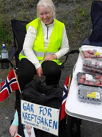 <strong>HVIL:</strong> «Denne dagsetappen hadde mye å by på - vakker natur, Hunderfossen, Lilleputthammer og Hafjell», skriver Marit om dag 18 på Facebook. Foto: Privat &nbsp; &nbsp; &nbsp; &nbsp; &nbsp; &nbsp; &nbsp;