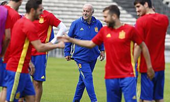<strong>URO:</strong> Vicente del Bosque har fått litt å gruble over etter Pedros utspill. Foto: REUTERS/Regis Duvignau