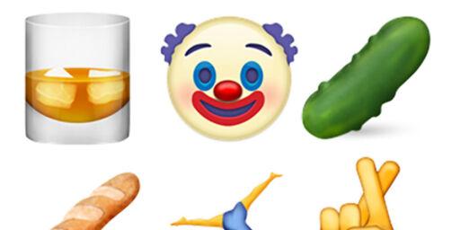 image: Slik blir de nye emojiene
