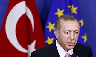 Lei: Nå virker det som om Trykias president, Recep Erdogan, har blitt lei og mistet tilliten til EU. Foto: NTB Scanpix.