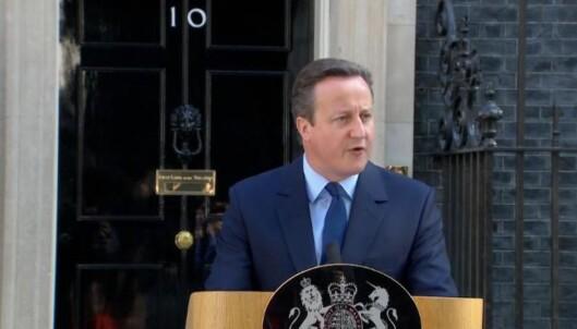 David Cameron trekker seg