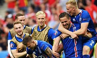 BRAGD: Gylfi Sigurdsson og Island imponerer en hel fotballverden med prestasjonene i EM-kvalifiseringen og selve EM. Foto: NTB Scanpix