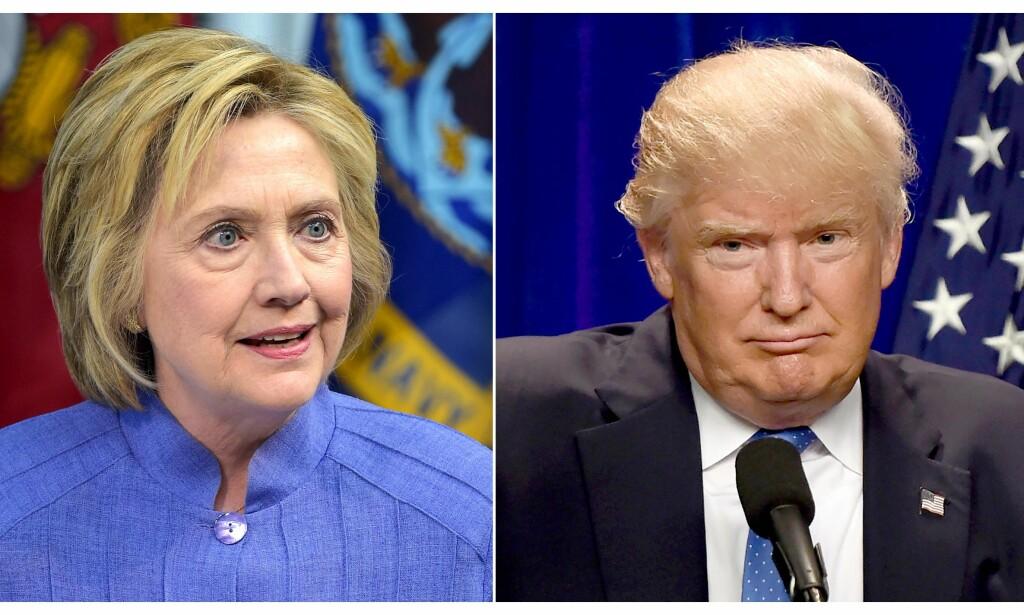 BRUKER NORGE I VALGKAMPEN: Donald Trump hevder at Norge er et av landene som har gitt mest til The Clinton Foundation. Foto: AFP PHOTO / dsk