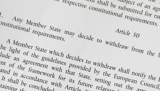 Europa venter på «paragraf 50». 261 ord dikterer nå Storbritannias EU-framtid