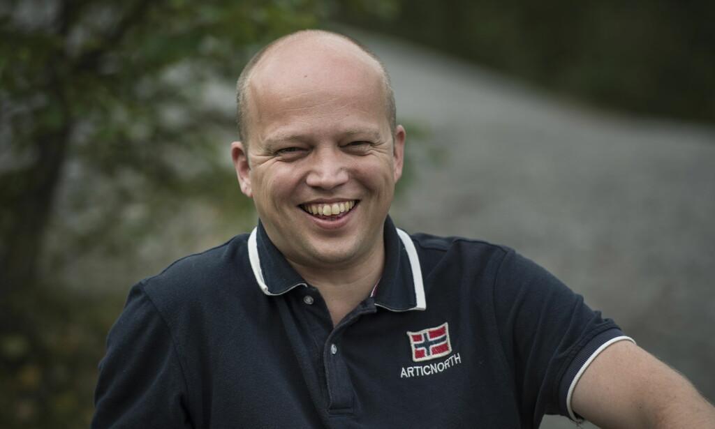 KLAR FOR FERIE: Senterparties leder, Trygve Slagsvold Vedum, gleder seg til fri med familien. Foto: Øistein Norum Monsen / Dagbladet