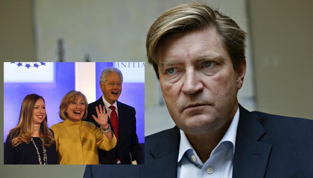 <b>VIL KUTTE:</b> Christian Tybring-Gjedde (Frp) mener det er unaturlig at Norge støtter en veldedig stiftelse som er så tett knyttet til en presidentkandidat. Foto: Jacques Hvistendahl og Scanpix