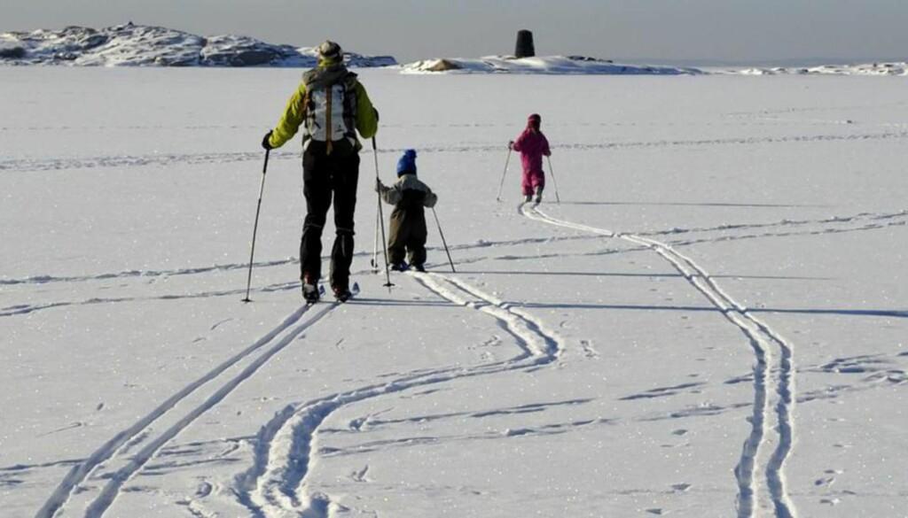 TEMPOSKIFTE: Så lenge barna var små, gikk det for så vidt greit, fordi jeg kunne gå i deres tempo. Foto: NTB SCANPIX