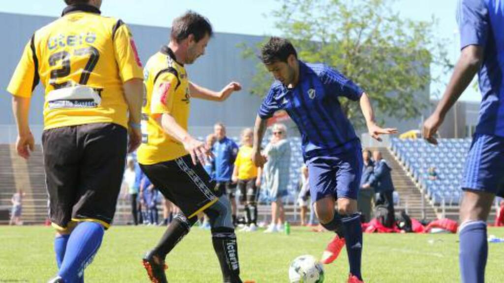 IMPONERTE: Stabæk-spillerne imponerte mot Start i Fotballstiftelsens første Mini-NM. Foto: Torstein Flåm