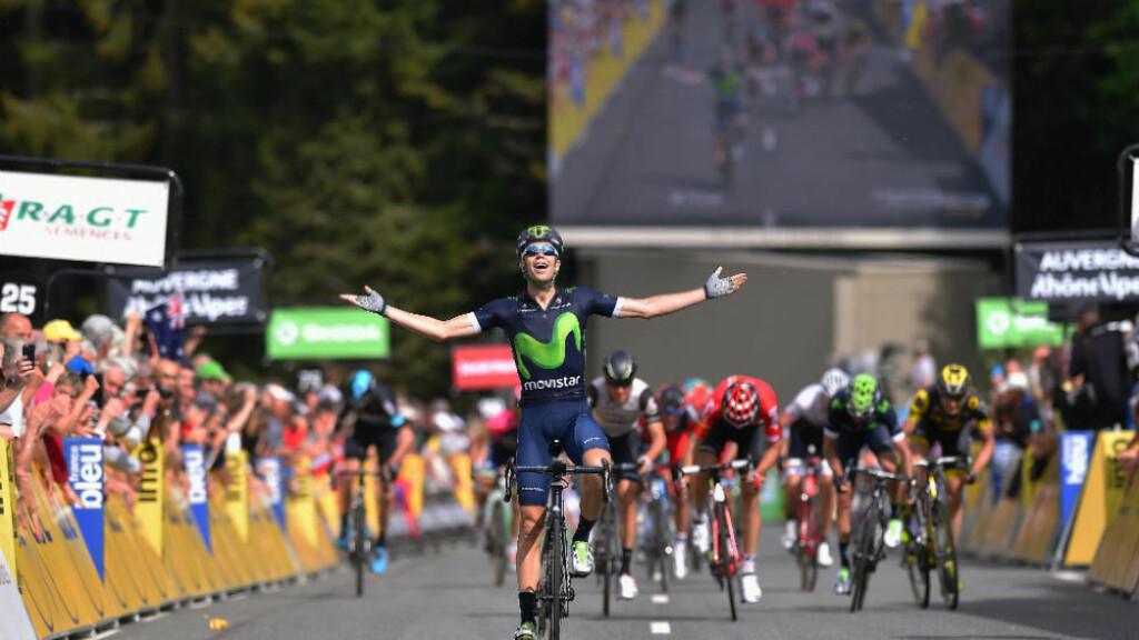HVOR VAR DERE?: Jesus Herrada var overlegen i avslutningen på dagens etappe av Critérium du Dauphiné. FOTO: Tim de Waele (TDWSport.com)