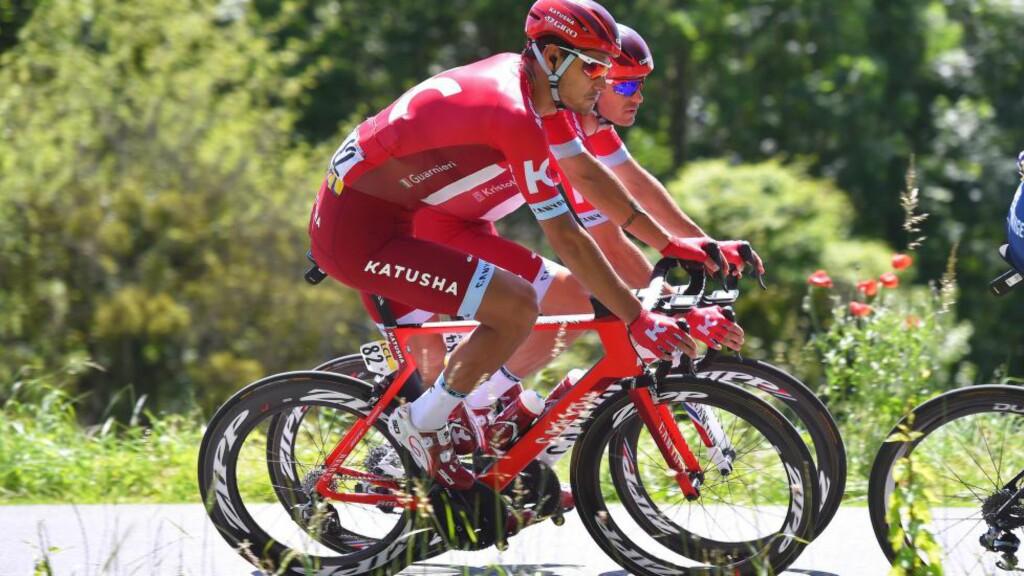 HEKTISK SPURT: Guarnieri og Kristoff (avbildet) var ikke på samme bølgelengde i spurten. Det ødela spurten på mandagens etappen i Criterium du Dauphiné. Foto: Tim de Waele (©TDWSport.com)