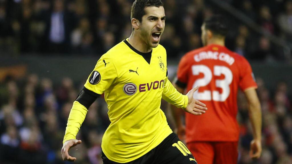 ETTERTRAKTET: Borussia Dortmunds Henrikh Mkhitaryan. Foto:  Reuters / Darren Staples / NTB Scanpix Livepic EDITORIAL USE ONLY.