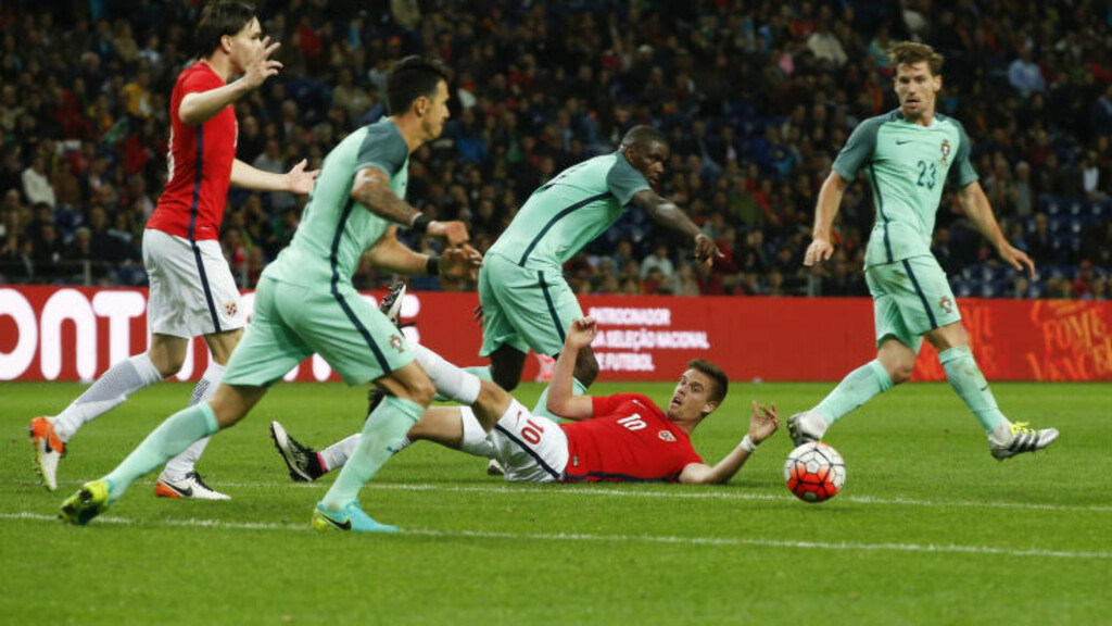 FALT SAMMEN: Norge falt sammen mot Portugal, som mener Island blir en langt tøffere motstander. Foto: Terje Pedersen / NTB scanpix