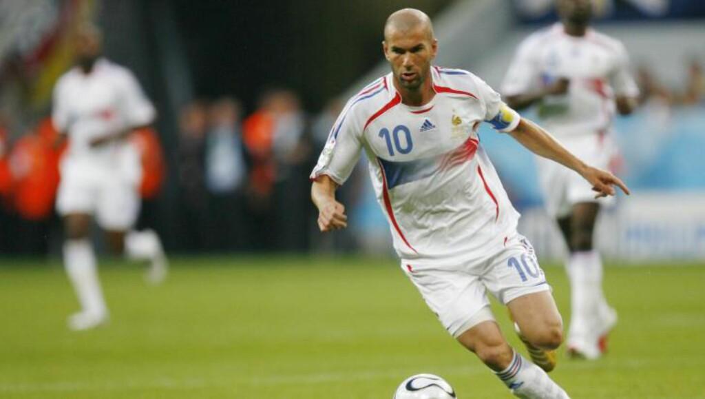 VANT ALT: Zinedine Zidane hadde en komplett fotballkarriere og vant det han ville. Foto: REUTERS/Jerry Lampen